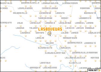 map of Las Bóvedas