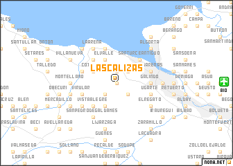 map of Las Calizas