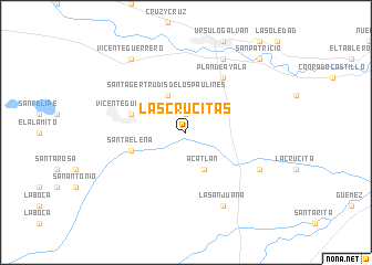 map of Las Crucitas