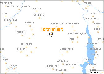 map of Las Cuevas