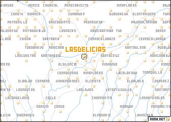 map of Las Delicias