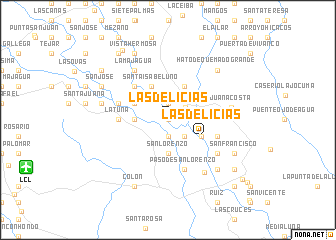 map of Las Delicias