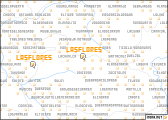 map of Las Flores