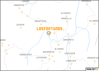 map of Las Fortunas