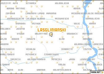 map of Las Gliniański