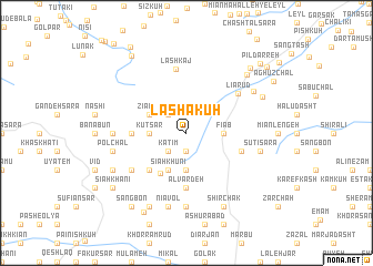 map of Lashā Kūh