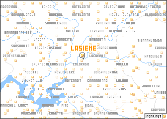 map of Lasième