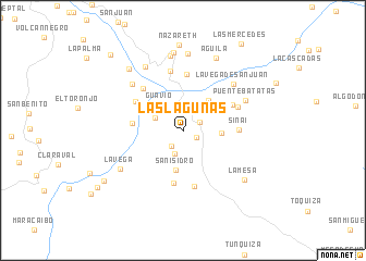 map of Las Lagunas