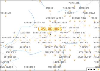 map of Las Lagunas