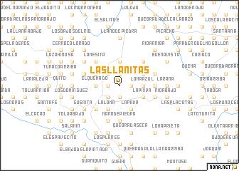 map of Las Llanitas