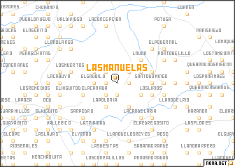 map of Las Manuelas