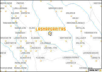 map of Las Margaritas