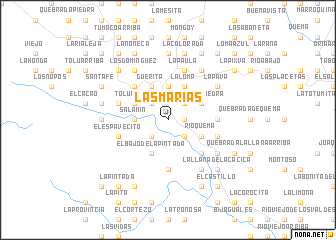 map of Las Marías