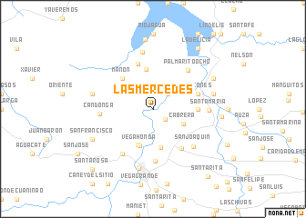 map of Las Mercedes