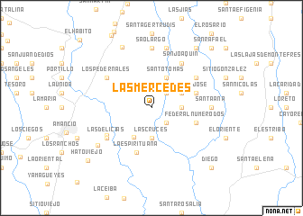 map of Las Mercedes