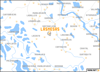 map of Las Mesas