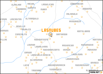 map of Las Nubes