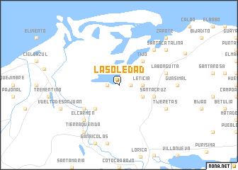 map of La Soledad