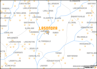map of La Sonora