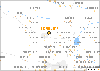 map of Lasowice