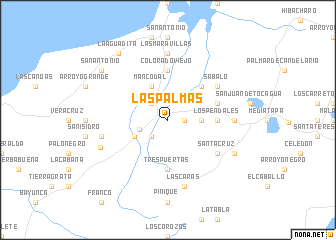Las Palmas Colombia map nonanet
