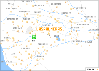 map of Las Palmeras