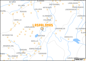 map of Las Palomas