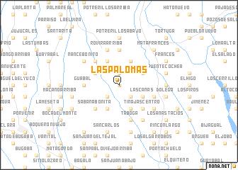 map of Las Palomas