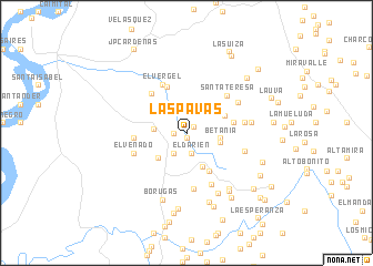 map of Las Pavas