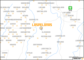 map of Las Pelonas