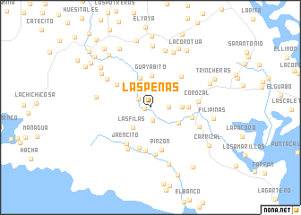 map of Las Peñas