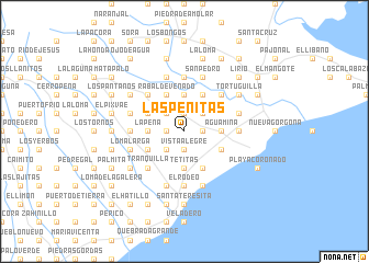 map of Las Peñitas