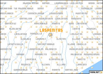 map of Las Peñitas