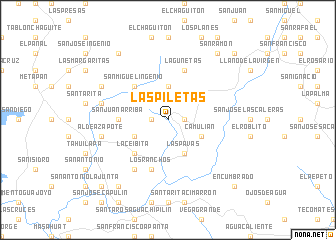 map of Las Piletas