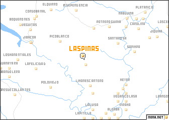 map of Las Piñas