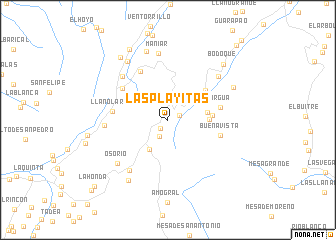 map of Las Playitas