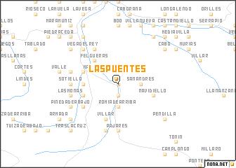 map of Las Puentes