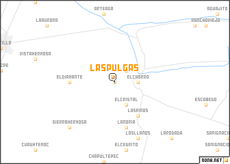 map of Las Pulgas