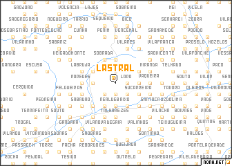 map of Lastral
