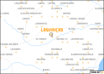 map of Las Viñicas