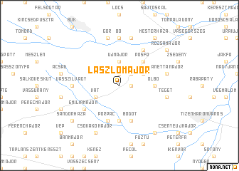 map of Lászlómajor