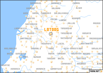map of Lataag