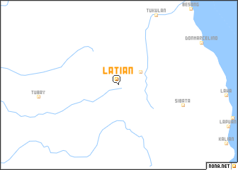 map of Latian