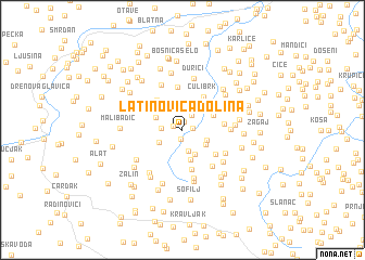 map of Latinovića Dolina