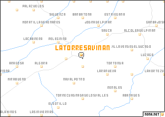 map of La Torresaviñan