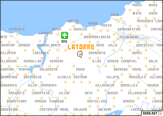 map of La Torre
