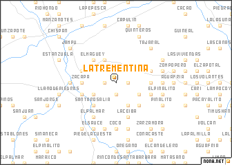 map of La Trementina