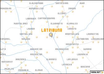 map of La Tribuna