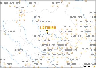 map of La Tumba