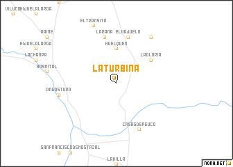 map of La Turbina